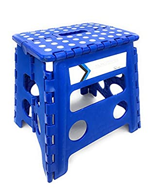 Folding Step Stool 13 Inches Height by Myth with Anti-Slip Surface Great for Kitchen, Bathroom, Bedroom, Kids or Adults Super Strong Holds Up to 330 LBS