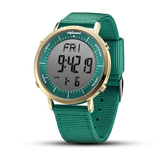 shifenmei Relojes Digitales, Reloj Deportivo Digital Unisex para Hombres, Mujeres, niños (Verde-2)