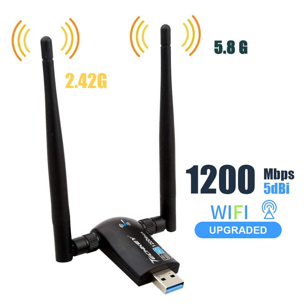 Wireless Adapter 1200Mbps Antennas Raspbian