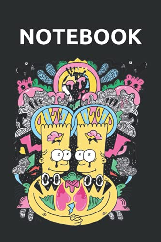 Bart Street Art Notebook: Perfect Journal Or Diary For Simpson Fans To Write Ideas, Info, Lists And Thoughts