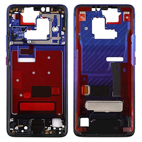 Moonbaby Mooie Front Behuizing LCD Frame Bezel Plate met Side Keys voor Huawei Mate 20 Pro(Zwart), Paars