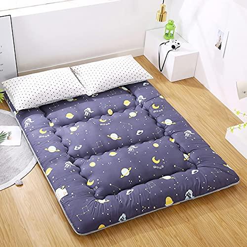HUHAA Colchón Enrollable para futón de Viaje, colchón para Dormir, sofá Cama, colchón de Camping Plegable portátil, 1 m × 2 m