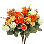 TURNMEON-3-Bunch-Flower-Bouquets-Artificial-Flowers-Fake-Flowers-for-Home-Table-Fall-Decors-Bridal-Bouquet-Silk-Flowers-Fake-Flowers-for-Wedding-Decoration-Autumn-Decoration-Centerpiece