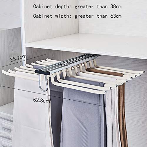 Rack Hosenhalter Aluminiumlegierung Drücken und ziehen Top Loading Multifunktions-Haushalt Im Schrank Hängende Hosenhalterung Hosenhalterung (Farbe : B)