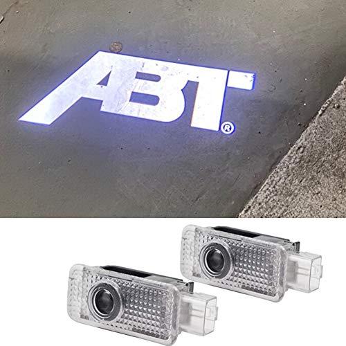 車用カーテシランプ A4 A6 A8 RS7 RS6 RS5 RS4 RS3 Q3 Q5 Q7 ABTロゴ投影 カーテシライト色褪せしません ドアウェルカムライト 2個