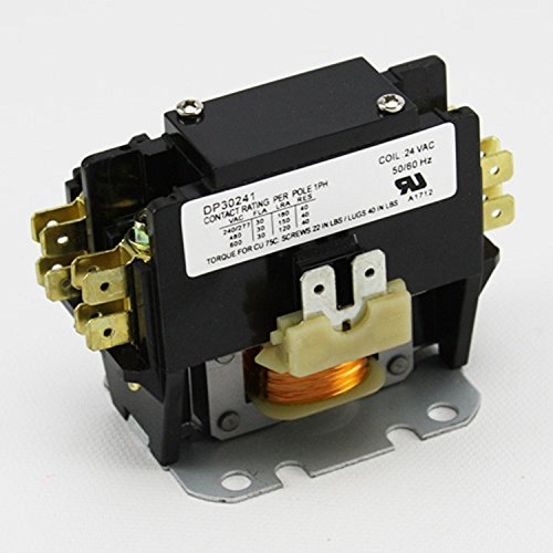 Contactor 1 Pole Supco 24 Volt Coil 30 Amp Contacts DP30241