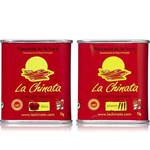 Pimentón de La Vera Ahumado Dulce y Picante pack La Chinata latas 70g