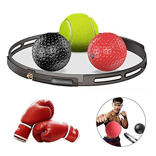 Boksen Reflex Balls, 3 Moeilijkheidsgraad Reactie Balls Met Zweetband, Met Bokshandschoenen Reactie Training Ball Voor De Coördinatie En Van De Geschiktheid