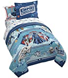 Jay Franco Star Wars Empire Strikes Back 40th Anniversary 7 Piece Full Bed Set - Includes Reversible Comforter & Sheet Set Bedding - Super Soft Fade Resistant Microfiber (Official Star Wars Product)
