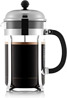 Bodum Chambord French Press Coffee and Tea Maker 51 Oz. Silver 1932-16