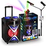 Portable Karaoke Machine for Adults and Kids, Ankuka Bluetooth PA Speaker Sound System with USB...