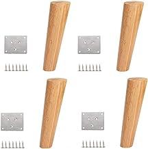 DX Meubelpoten Massief houten bankpoten (set van 4) Ronde rubberen poten, bed, salontafel, tv-kast, meubelpoten (gewicht 6...