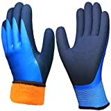Waterproof Cold Weather Work Gloves, Superior Grip Coating...
