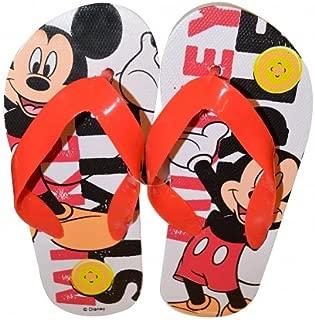 Disney 'Mickey Mouse' Summer Size 11-11.5 Flip Flops Footwear