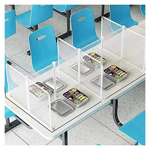 AGLZWY 16 Piezas Escudos De Privacidad para Escritorios De Estudiantes Panel De Protección contra Estornudos Montaje Gratuito Utilizado En Restaurantes, Escuelas, Cantinas (Size : 30x30cm)