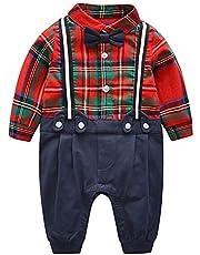 Recién Nacido Pelele Bebé Niño Pijama de Algodón Mameluco Pelele Trajes 0-12 Meses
