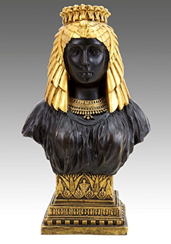 Kunst & Ambiente - Figura de bronce - Busto de Cleopatra Egipto - firmado Milo - Figura egipcia - Compra bustos egipcios - Escultura - Estatua - Femenino