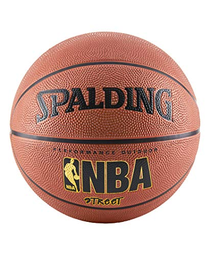 Spalding NBA Street Outdoor Basketball, Size 7 - Official Size (29.5'), Orange