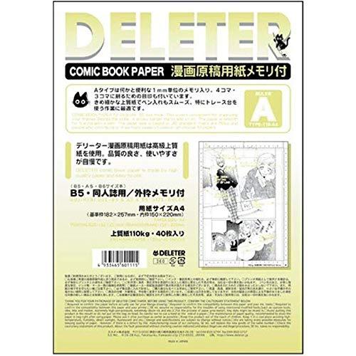 Deleter Comic Manga Papier [liniert Typ A] [°] [A421x 29,7cm] [40-page Pack]