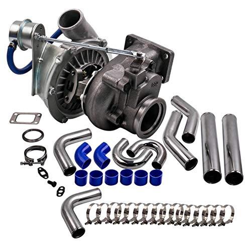 For H, Y, B, R, I, D T3 T4 A/R .63 A/R .50 V-Band Turbo Turbo Turbo for 4 6 Cilindros Universal 3.0'Pulgada InterCooler Aluminio Piping Hose