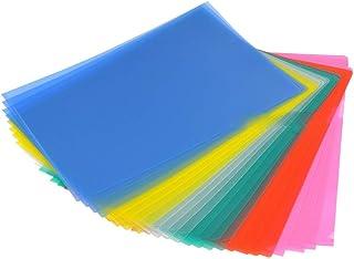 YOTINO 24 Pack Cubierta de protección de archivo/20 x A4 Plástico color brillante Open Top & Side Report File Archivos de cubierta de proyecto (6 colores diferentes)