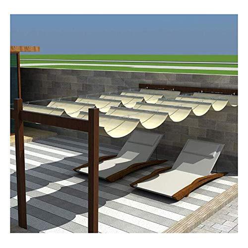 LH-RUG Toldo de pérgola retráctil, toldo de Vela, toldo de Techo, Gazebo, Patio, Entrada, balcón, 48 tamaños, tamaño Personalizado