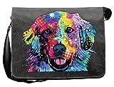 Hunde/Umhängetasche/Tasche-Vintagelook mit Dog-Neon-Druck: Golden für Hundefreunde
