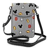 Mickey Mouse Smile (2) bolso de hombro para teléfono celular, mochila de viaje, regalo de fiesta para mujeres y niñas