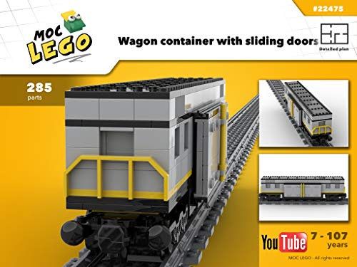 Wagon Container with sliding door (Instruction Only): MOC LEGO (English Edition)