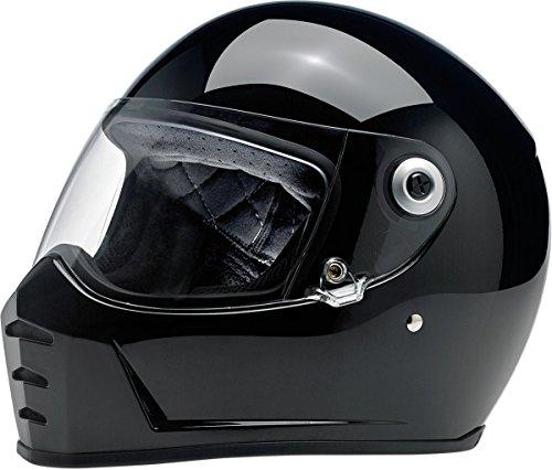Biltwell Lane Splitter Solid Full-face Motorcycle Helmet - Gloss Black/Small