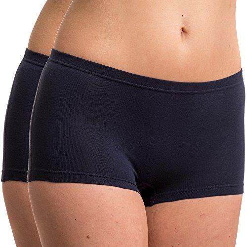 HERMKO 5700 2er Pack Damen Panty aus anschmiegsamer Baumwolle/Elastan, Farbe:Marine, Größe:52/54 (XXL)