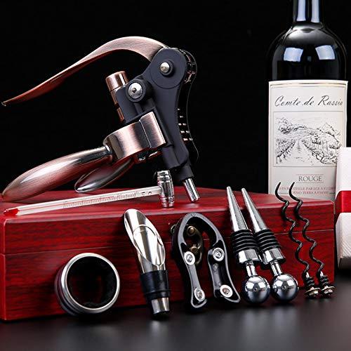 HNWTKJ Kit De Abrebotellas De Vino De Conejo, Tapón Y Vertedor Juego De Regalo De Abridor De Botella con Elegante Y Conveniente para Vino Botella Decoracion Regalo