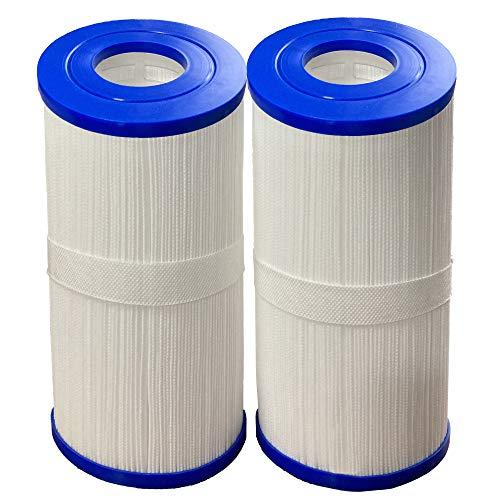 WYWZDQ 2 cartuchos de filtro para piscina y spa, cartucho de filtro compatible con Pleatco PRB35-IN Unicel C-4335, 40353 Rotospa Hydrospa, 12,5 x 23,5 x 5,4 cm
