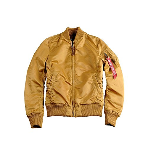 Alpha Industries MA-1 VF 59 Women Jacket Bomberjacke 133009, Größe:S;Farbe:Gold