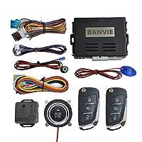 BANVIE ① 車のキーレスエントリーセキュリティアラームシステム + ② リモートエンジンスターター + ③ プッシュスタートストップ点火ボタン