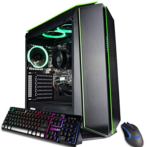 CUK Mantis Custom Gaming PC (AMD Ryzen 3 3200G, 16GB DDR4 RAM, 256GB NVMe SSD, 500W PSU, No OS) The Best New Tower Desktop Computer for Gamers