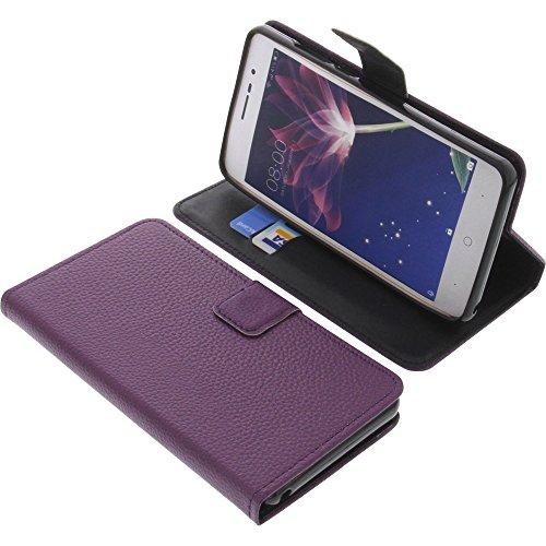 foto-kontor Tasche für Doogee X10 Book Style lila Schutz Hülle Buch