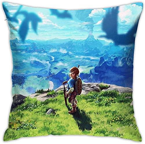 SHAA Anime The Legend Of Zelda Breath Of The Wild - Fundas de almohada decorativas, fundas de cojín
