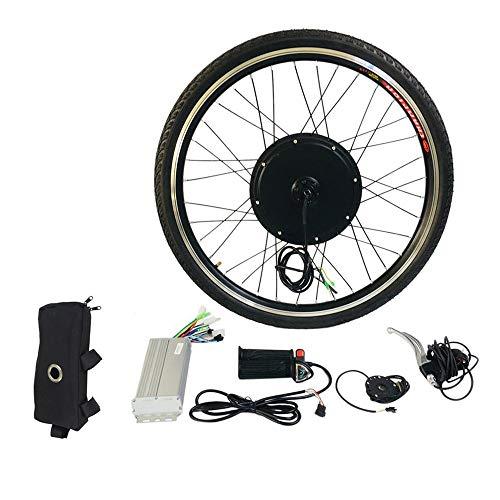 Kit de conversión de Bicicleta eléctrica E 26 Pulgadas Motor de Rueda Delantera Buje de Bicicleta 48V 1000W Kit de Herramientas de aleación de Aluminio Sensor de Velocidad de manivela