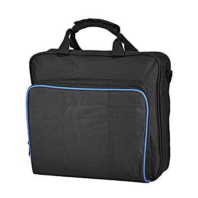 Travel Carrying Case for PS4 & PS4 Systems , Protective Shoulder Bag for Play Station, VR Gear, Console Equipment ect Cool Black