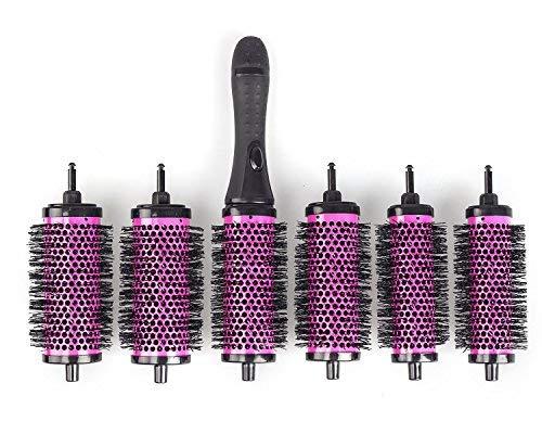 Hivexagon Bürsten Set Mit Abnehmbaren Rollen Rundes Styling Werkzeug, 6 Rollen 1 Griff, Klein Medium Groß BT023