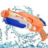 Addmos Pistola ad Acqua Fino a 10 m di Distanza Super Water Pistol Soaker 1.2L Serbatoio Doppio Power Up Outdoor Water Fighting Toy per Bambini Adulti