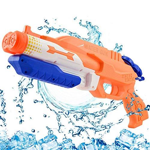 Addmos Pistola de Agua hasta 10 Metros de Distancia Super Pistola de Agua 1.2L Tanque de Doble Potencia de Juguete al Aire Libre de Lucha contra el Agua para niños Adultos