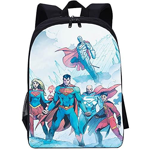 YITUOMO Mochilas escolares para niños y niñas Superman guapo anime Impresión Mochila Estudiantes Adolescentes Mochila informal Mochila