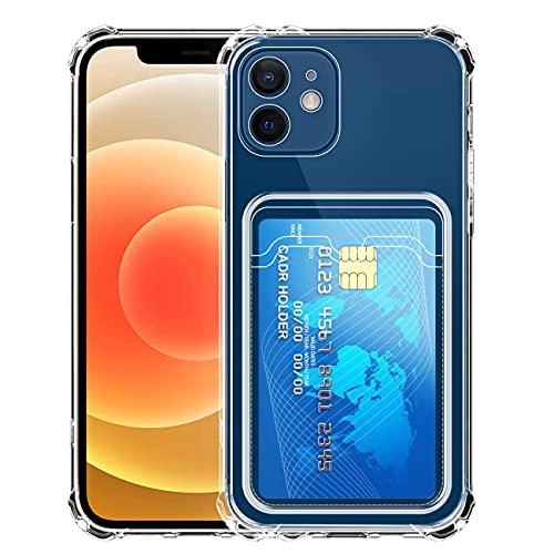 IEMY Transparente Silicona Funda para iPhone 11 con Tarjetero Cuatro Esquinas Anti-Caídas...