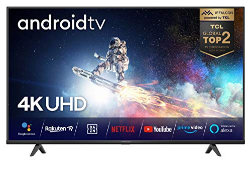 iFFALCON (by TCL) 55K610 Fernseher 55 Zoll (139 cm) Smart TV (4K Ultra HD, MEMC, Dolby Vision, Android TV, inklusive Sprachfernbedienung, Prime Video, Google Assistant und Alexa [Energieklasse A++]