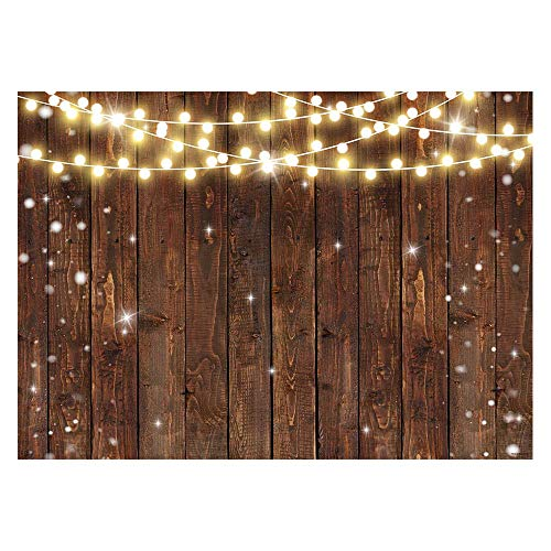 Funnytree 7x5FT Rustic Glitter Wood Photography Backdrop for Wedding Party Banner Birthday Bridal Shower I Do BBQ Baby Shower Background Photo Booth
