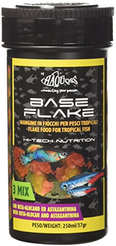Haquoss Baseflake Mangime in Scaglie per Pesci Tropicali, 250 ml/38 gr