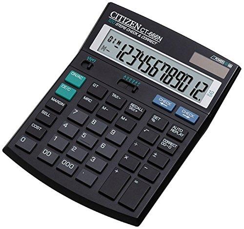 Citizen CT666N Kaufmänischer Tischrechner mit Rundungsfunktion