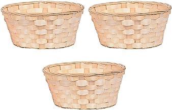 EXCEART 3 x Woven bambusowy kosz wicker owoce koszyk chleb taca pleciony kosz organizer warzywa koszyk na chleb przekąski ...